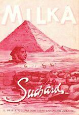 WERBUNG' SCHOKOLADE MILKA SUCHARD ÄGYPTEN WÜSTE BEDUINEN PYRAMIDE SPHINX 1911