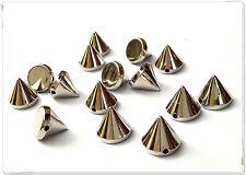 100pz Borchie sfuse cono da cucire colore argento1 CM*100pcs silver CONE STUDS