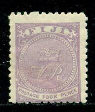 "FIJI 42 SG56 MH 1896 4p vio Crown & ""VR"" Perf 11 SGCV£26($33)"