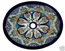 "Sink 17x14"" Drop in Ceramic Talavera Mexican Oval   # 172"