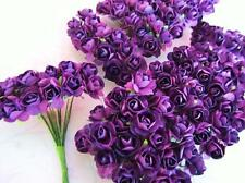 144 Mulberry Paper Rose Flower/scrapbooking/craft/wedding/parchment H420-Purple