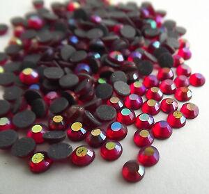 1440pcs HotFix Iron-On Flatback Rhinestones Siam Beads SS10 Crystal AB 3mm