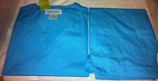 Scrubs Sets Unisex Solid Turquoise Blue Top/Pants Set XL By Natural Uniforms
