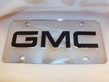 GMC License Plate Silver/Black NEW!!