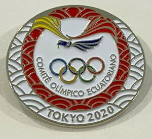 Ecuador Tokyo 2020 NOC Pin Badge (Dated) - LAST ONE!