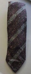 Drake's Burgundy Striped Slub Silk Blend Classic Men's Tie $175 A5/184