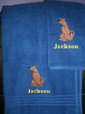 Scooby Doo Personalized 2 Piece Bath & Hand Towel Set Any Color  Your Choice