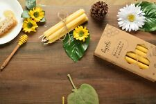 12 Handmade All Natural Beeswax Tapered Candles Made In USA (Few Size Options)