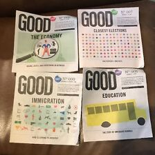 2008 Starbucks Shared Planet GOOD No. 3,5,6,7 Paper Books Education, Economy,