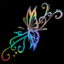 4pcs Butterfly Flying Reflective Wall Stickers Car Bumper Vinyl Decal Decor Us