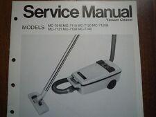 Vintage Nacional Aspiradora Panasonic MC-7010 Manual De Servicio diagrama de cableado