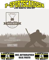 2019 HIT PARADE AUTOGRAPH NHL HOCKEY 8x10 PHOTO LIVE BOX BREAK | 1 TEAM |  #3570