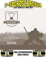 2018 HIT PARADE AUTOGRAPH NHL HOCKEY 8x10 PHOTO LIVE BOX BREAK-RANDOM TEAM #2527