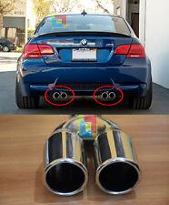 4x TERMINALI DI SCARICO BMW SERIE 3 E92 E93 06-12 INOX DOPPIA USCITA