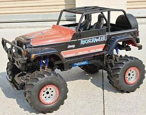Vintage New Bright R/C Huge 1/6 Scale Jeep RockCrawler RARE!!
