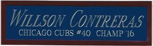 WILLSON CONTRERAS CUBS NAMEPLATE FO AUTOGRAPHED Signed BAT-BASEBALL-PHOTO-JERSEY