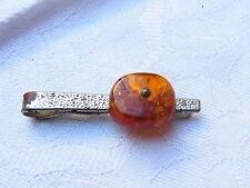 Vintage 50er Jh. Design Krawattennadel tie-pin Bernstein Amber  Nr.3
