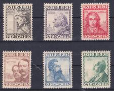 1934 Ö. Baumeister Postfrisch ** MNH 591 - 596 € 180,--