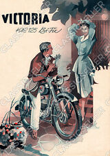 Victoria KR 125 KR125 Bi-Fix Bifix Motorrad Poster Plakat Bild Schild Kunstdruck