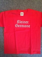 Kleiner Germane T-Shirt Rot 104 (Metal Kinder,Kids, Odin, Thor, Amon Amarth)