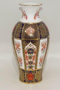Royal Crown Derby England Old Imari vase 18cm tall   2nd