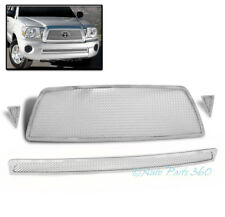 05-10 TOYOTA TACOMA FRONT UPPER +BUMPER STAINLESS STEEL MESH GRILLE GRILL CHROME