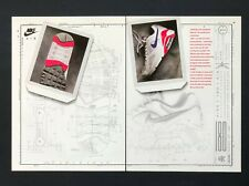 1991 Nike 180 Air Sneaker Advertisement Design Diagram Schematics Shoe Print AD