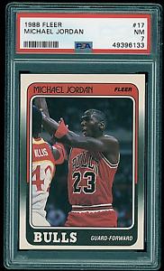 1988-89 Fleer Michael Jordan #17 PSA 7 Chicago Bulls HOF 3rd Year Card