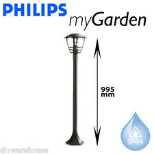 PHILIPS MASSIVE MY GARDEN CREEK POST LIGHT 1 METRE GARDEN OUTSIDE BLACK LAMP NEW