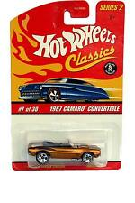 Hot Wheels Classics Series 2 #7 1967 Camaro Convertible Gold Painted Engine