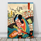"Japanese Kabuki Art CANVAS PRINT 16x12"" Danjuro as Otokonsuke ~ Kunichika"