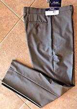 Ralph Lauren Flat Front Dress Pants Mens 38 x 30 Tan Tiny Herringbone NWT $79