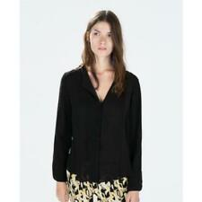 New Zara Womens ladies black shirt blouse top size 8 10 12 14 16