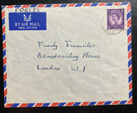 1959 British Field Post Office 945 Hong Kong Airmail Cover To London England