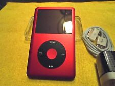 Apple iPod classic 7th Gen Red Black (SSD128 GB) + extras MC297 Great condition
