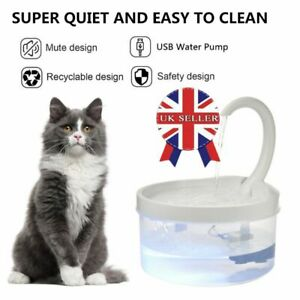 Cat Mate 2L Drinking Water Fountain with LED By Pet Mate For Cats & Small Dogs