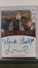 Game of Thrones Complete Series Sam Coleman as Young Hodor Inscription Auto Card
