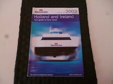 STENA LINE FERRY TRAVEL HOLLAND & IRELAND 2003 GUIDE BROCHURE *AS PICTURES*