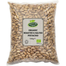 Organic Roasted & Salted Pistachio in Shell 100g Certified Organic