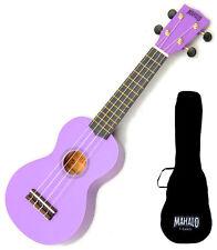 Left Handed Mahalo Soprano Ukulele Uke Purple Free case UK SELLER