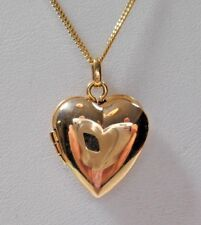 "Tiffany & Co 14K Yellow Gold Heart Locket Pendant 16-18"" Necklace w/ Pouch & Box"