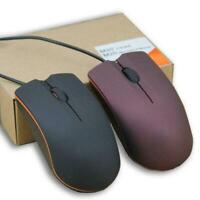 1200DPI Silent Wired Mouse Click Mice Optical USB Frosted K0C7 Offi N9C1