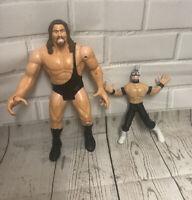 The Big Show & Rey Mysterio WWF WCW Wrestling Figure 1999 ToyBiz Smash N slam