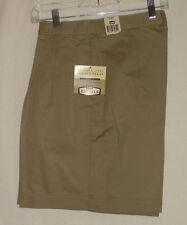 Lee Casuals Tan Khaki Walking Work Shorts sz 14  Wrinkle Free Pleated Uniform
