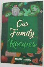 Our Family Recipes Journal NEW Blank Cooking Book Write In Meals