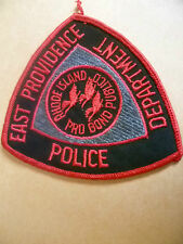 Patches: EAST PROVIDENCE RHODE ISLAND POLICE PATCH (NEW* apx.11x10 cm)