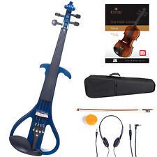Cecilio Size 4/4 Electric Violin Ebony Fitted ~ Blue Style4