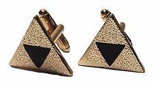 Nintendo ZELDA Triforce Logo Goldtone Metal Cufflinks