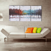 3Pcs Forest Jungle Canvas Abstract Painting Print Art Wall Home Decor Unframed