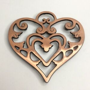 Pampered Chef Heart Trivet Round Up From the Heart Copper Plated Iron 2007